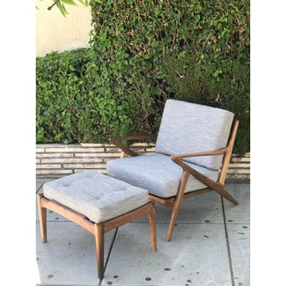 Mid Century Modern Lounge Chair and Ottoman- Customizable Preview