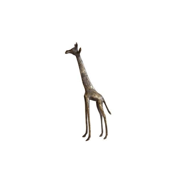 Bronze Vintage African Dark Bronze With Golden Streaks Giraffe For Sale - Image 8 of 8
