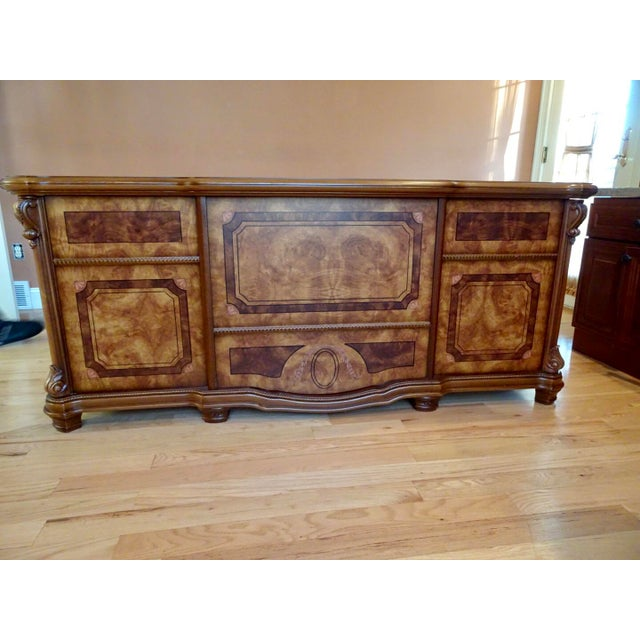 Brown Italian Office Executive Desk For Sale - Image 8 of 8
