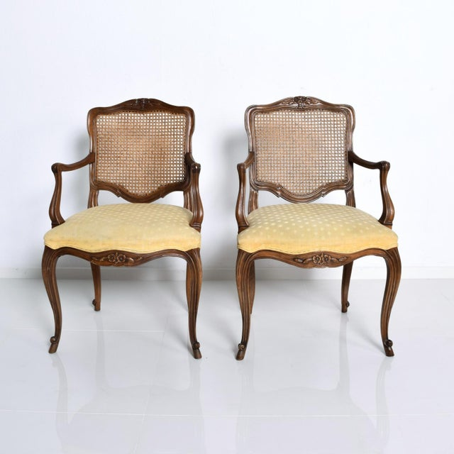 Hollywood Regency Arm Chairs by Kindel - a Pair For Sale - Image 11 of 11
