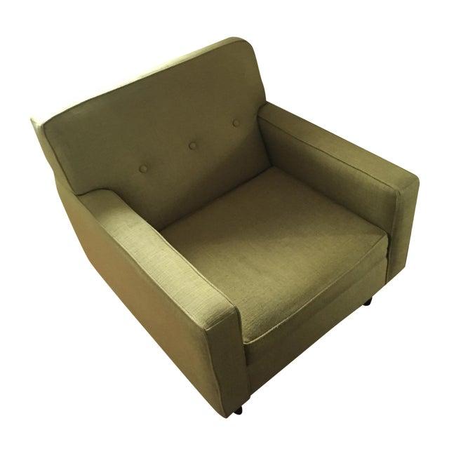 Mid-Century Style Ochre Armchair For Sale