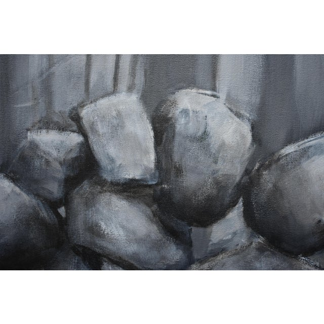 "Paint ""Sculptural Stone Wall"", Contemporary Large Painting by Stephen Remick For Sale - Image 7 of 13"