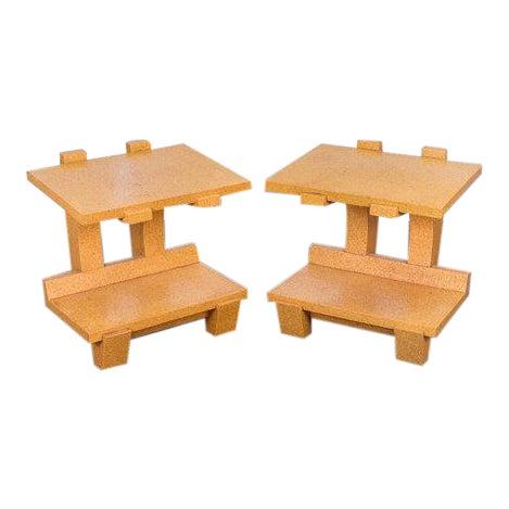 Kevin Walz Cork Side Tables - Image 1 of 11
