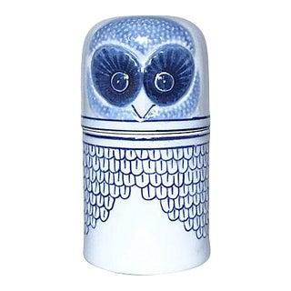 Porcelain Owl Trinket Box For Sale