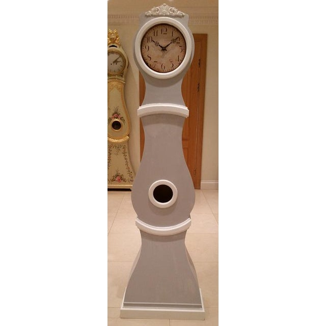 White Reproduction Swedish Mora Clock For Sale - Image 8 of 9