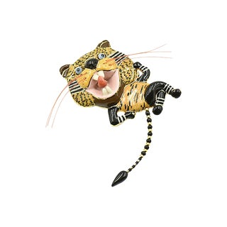 Cynthia Chuang Tiger Brooch For Sale