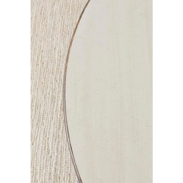 White McGuire Organic Modern Round Game or Dining Table For Sale - Image 8 of 13