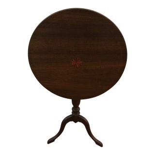 19th Century Traditional Walnut Tilt Top Table For Sale