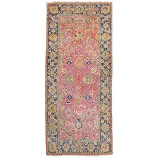 Indo-Isfahan Rug - 6′ × 13′8″