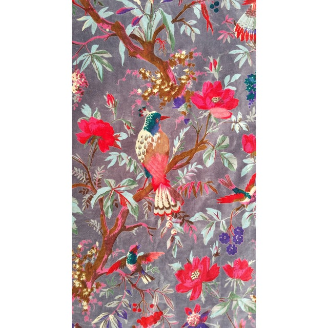 Linen Cotton Velvet Indian Design Pillows - Pair For Sale - Image 7 of 10