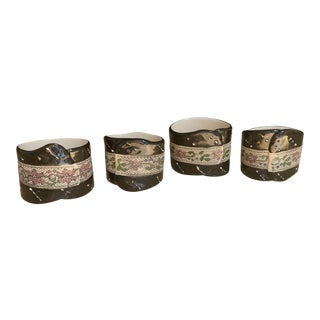 Vintage China Napkin Rings - Set of 4 For Sale