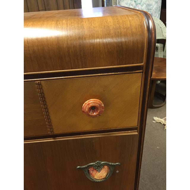 Art Deco Tall Dresser with Drawers - Image 3 of 11