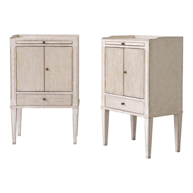 Pair of Lotta Gustavian Style Nightstands For Sale