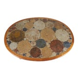 Image of Teak Tue Poulsen Ceramic Art Tile Coffee Table by Haslev 1960s Made in Denmark For Sale