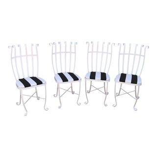 Vintage Metal Outdoor Chairs - Set of 4