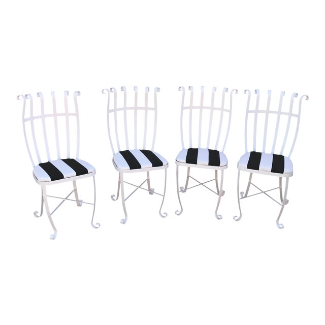 Vintage Metal Outdoor Chairs - Set of 4 - Image 1 of 11