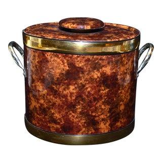 Vintage Kraftware Faux Tortoiseshell Ice Bucket