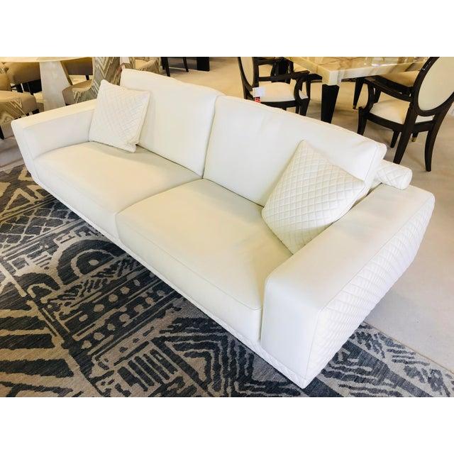 Italian 21st Century C&b Italia Gurian White Leather Italian Sofa For Sale - Image 3 of 13