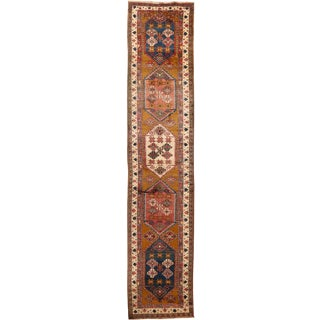 Vintage Persian Serab Runner Hand Woven 3' X 14' For Sale
