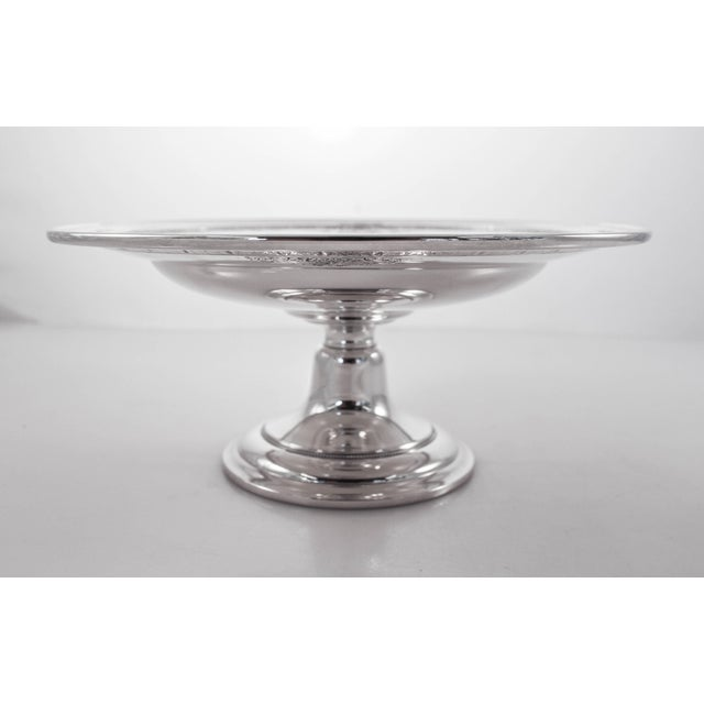 Offered here is a sterling silver tazza in the Lady Constance pattern by Towle Silversmith. AN elegant etched motif...