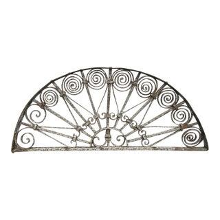 Antique Victorian Iron Garden Gate Window For Sale