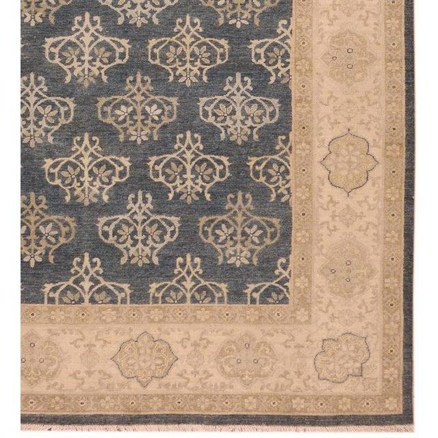 Kafkaz Peshawar Dante Gray & Ivory Wool Rug - 9'0 X 11'8 For Sale In New York - Image 6 of 7
