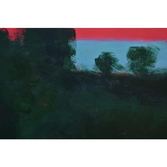 """Stephen Remick Stephen Remick """"Sunset Over the Mad River"""" Contemporary Abstract Painting For Sale - Image 4 of 10"""