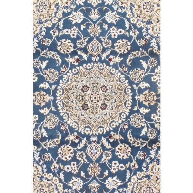 Fine Persian Nain Silk & Wool Rug - 3′ × 4′3″ - Image 2 of 2