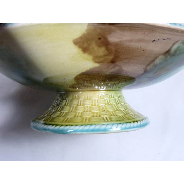 Antique 1880s Majolica Compote Serving Piece For Sale In Boston - Image 6 of 13