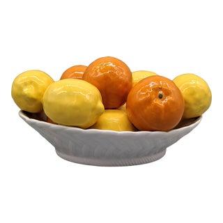 Late 20th Century Italian Lemon and Orange Fruit Bowl Centerpiece For Sale
