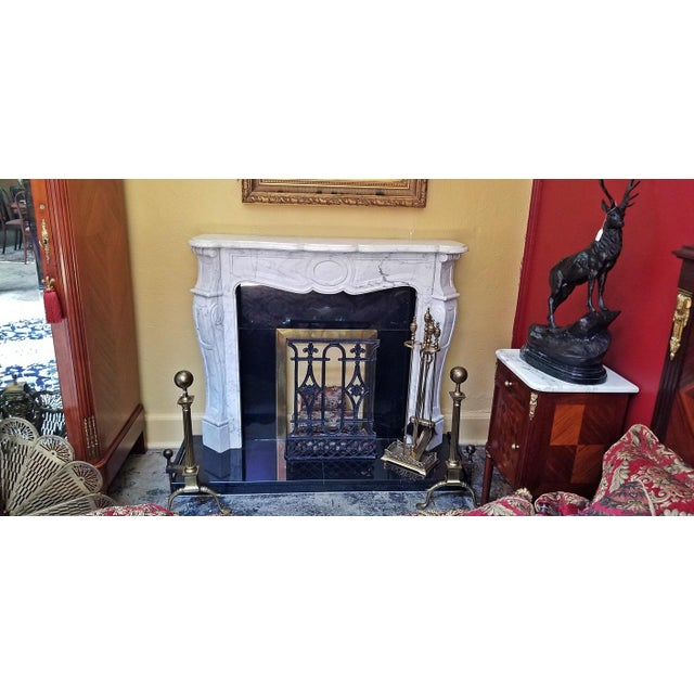 20c Irish White Marble Fireplace - Complete For Sale - Image 9 of 11