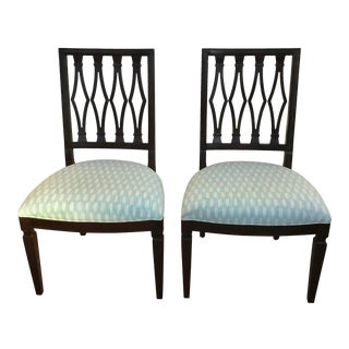 Custom Upholstered Century Side Chairs- a Pair For Sale
