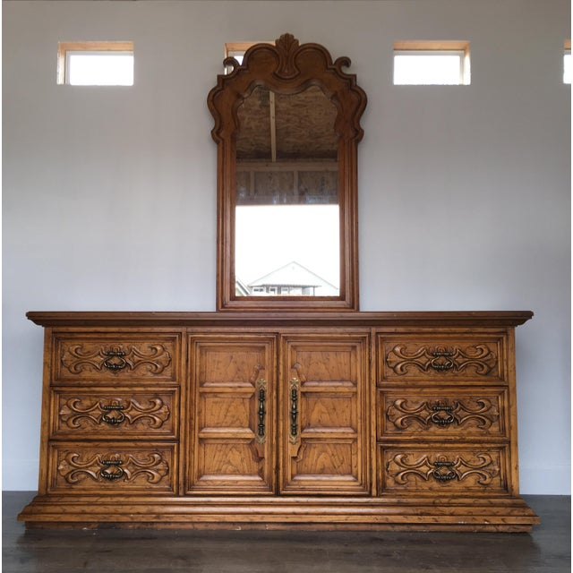 Velero by Drexel Dresser & Mirror For Sale - Image 11 of 11