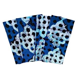 Blue Batik African Print Napkins & Table Runner Set