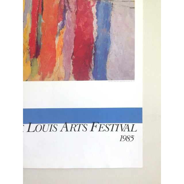 Arthur Osver Vintage 1985 Abstract Expressionist Lithograph Print St. Louis Arts Festival Exhibition Poster For Sale - Image 10 of 13