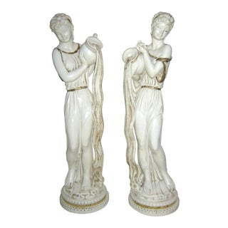 Roman Era Female Statues, 1959, Chicago Universal Statuary Co. - A Pair For Sale