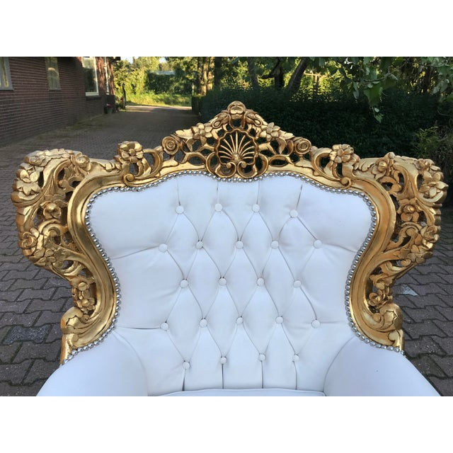 1940's Italian Rococo Living Room Set- 3 Pieces For Sale - Image 4 of 12