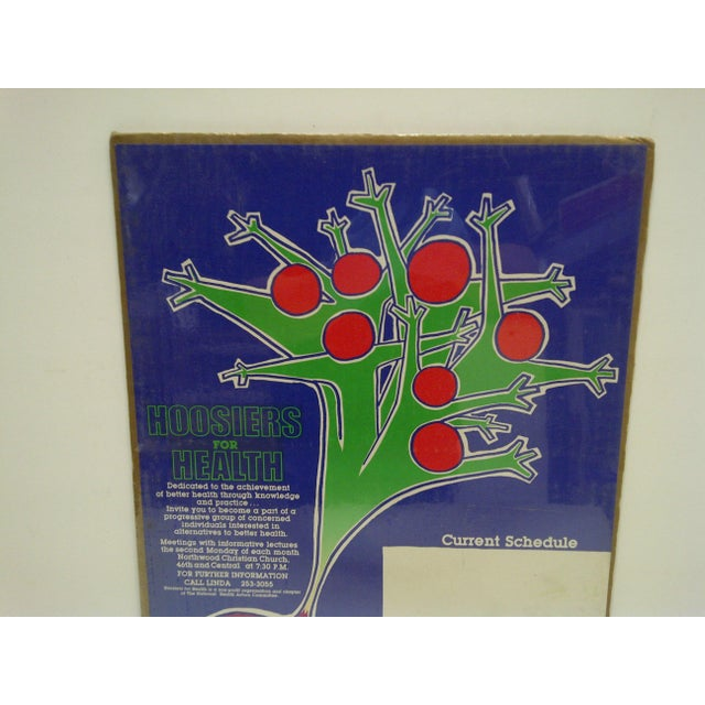 1982 Hoosiers for Health Northwood Christian Church Poster - Image 3 of 4