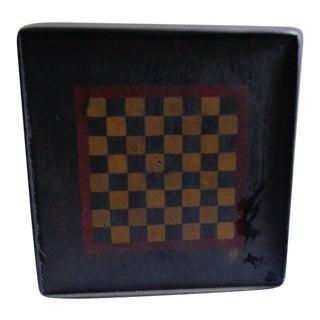 Vintage Handmade Folk Art Painted Game Board For Sale