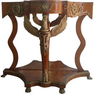Antique Burlwood and Gilt Table