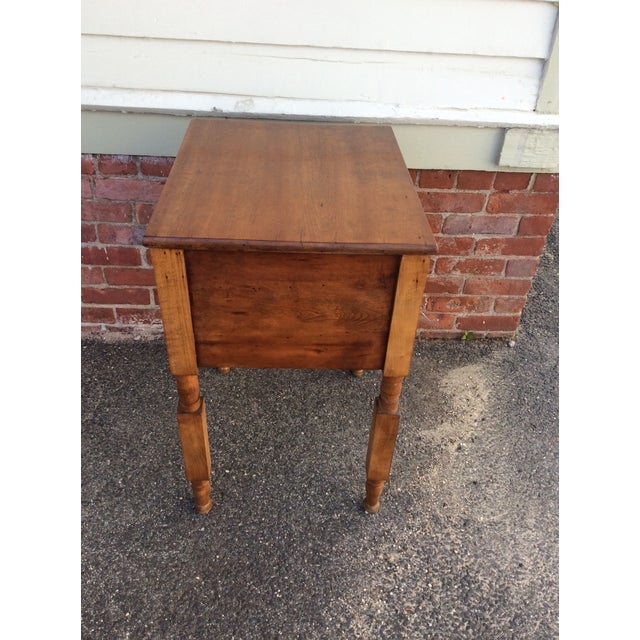 Antique Tiger Maple and Cherry 2 Drawer Stand For Sale In Boston - Image 6 of 9