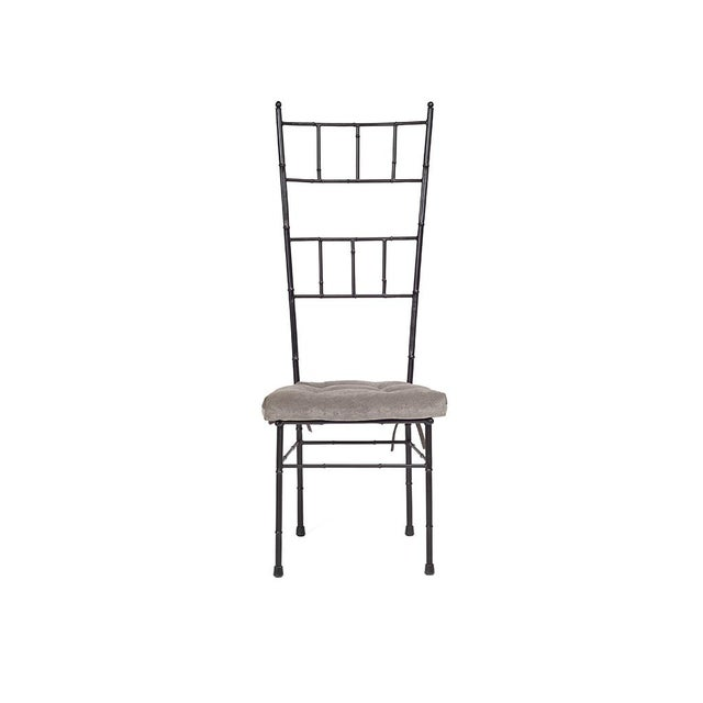 Asian Black Faux Bamboo Dining Chairs - Set of 6 For Sale - Image 3 of 5