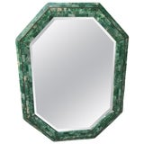 Image of Maitland-Smith Tessellated Stone Octagonal Mirror For Sale