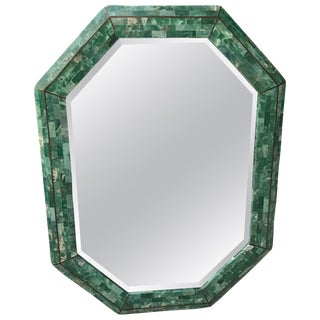 Maitland-Smith Tessellated Stone Octagonal Mirror For Sale