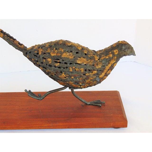 Mid-Century Brutalist Pheasant Sculpture - Image 4 of 5