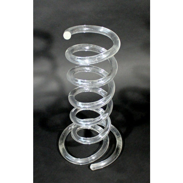 For your consideration is a phenomenal, lucite, spiral umbrella holder or stand, by Dorothy Thorpe, circa the 1970s. In...