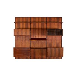 Vintage Danish Rosewood Modular Wall Unit by Kai Kristiansen For Sale