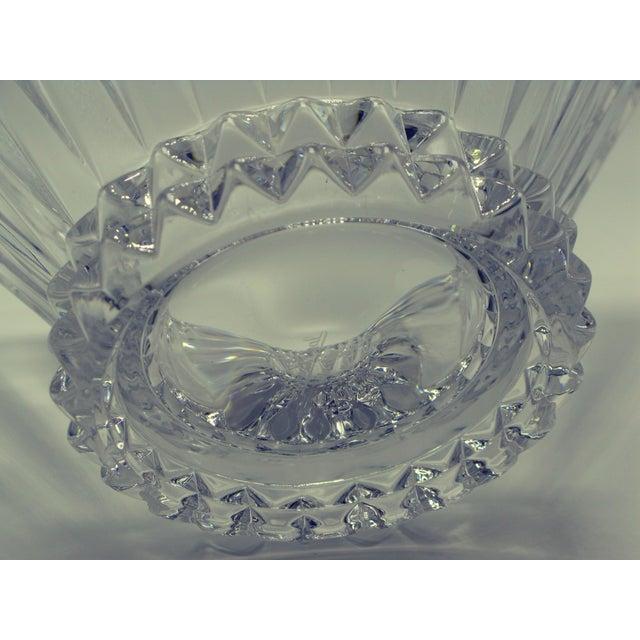 Glass German Brutalist Crystal Centerpiece Fruit Bowl For Sale - Image 7 of 10