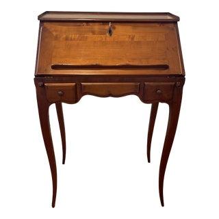 Roche Bobois Louis XV Solid Cherry Secretary Desk