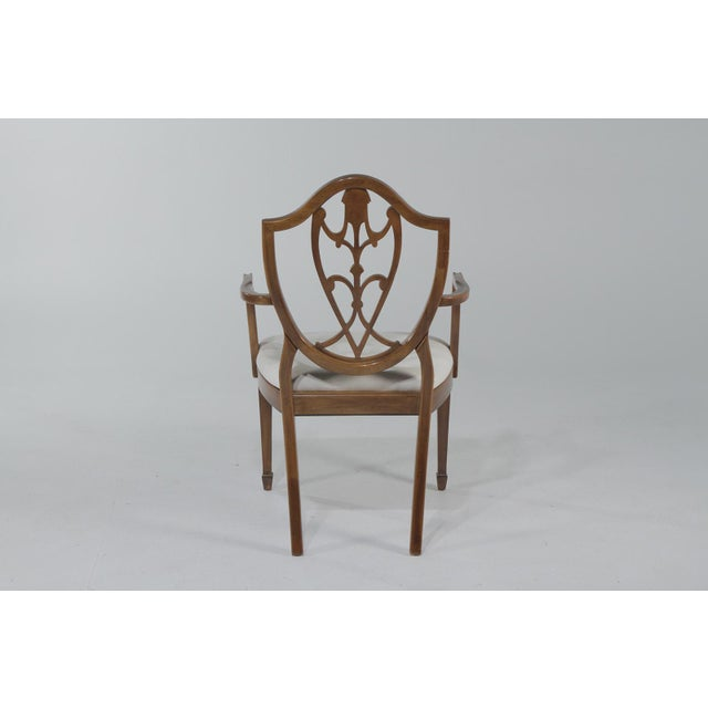 1950s Vintage Shield Back Mahogany Dining Chairs- Set of 6 For Sale - Image 4 of 13